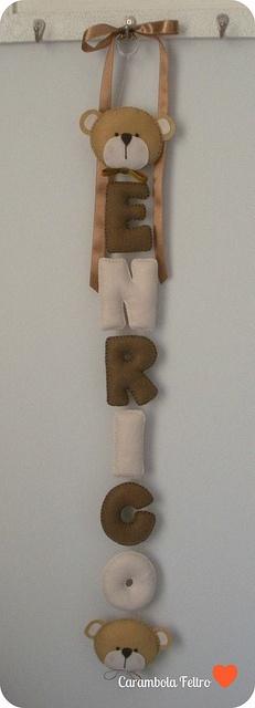 {{ Enrico }} by carambola arte em feltro, via Flickr