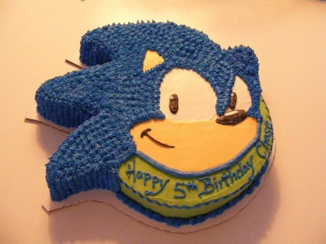 sonic the hedgehog cake - Google Search