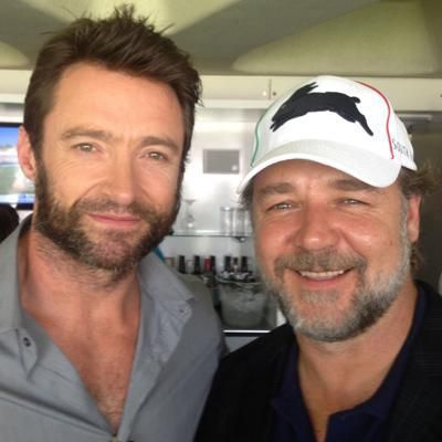 Crowe and Jackman at Lord's for cricket