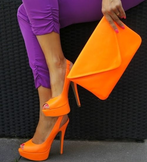 Shoes, Orange, Colors Combos, Fashion, Style, Neon, Pinwheels, Colors Combinations, Bright Colors