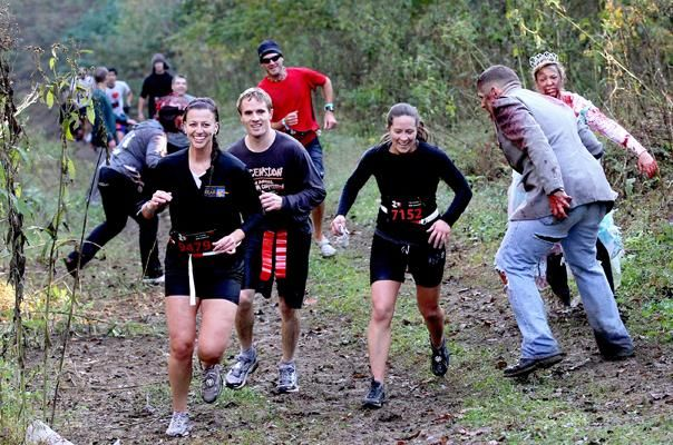 Run for your lives, zombie 5 k. they hide and chase you, and try to steal your flags!!   I will do this.