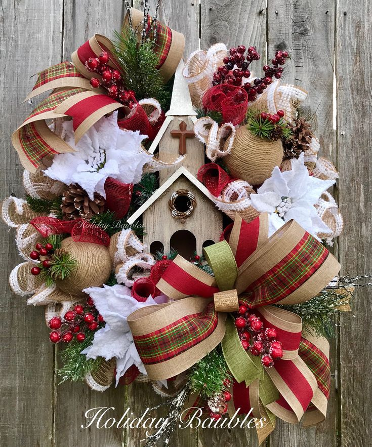 Christmas Wreath by Holiday Baubles