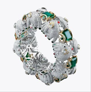 Narayan Jewellers, Zambian Emerald Bracelet.Following the success of 'Emeralds for Elephants' in London in the summer of 2010, the aim of this collection is to create awareness and raise crucial funds for the conservation initiatives of Wildlife Trust of India (WTI) for the Asian Elephant in India.