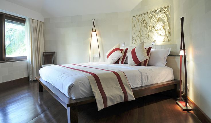 The whole resort at Club Med Bali looks stunning and the accommodation options are equally beautiful. There's the choice of club rooms or suites, all influenced by Balinese style.
