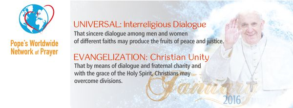 This month #PopeFrancis invites us to pray for interreligious dialogue & Christian unity. #PrayWithThePope #Catholic