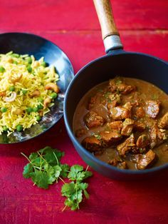 To coincide with our upcoming live webchat with Lorraine Pascale on 12 September, try your hand at her recipe for this super-tasty Sri Lankan chicken curry, with coconut milk and cashew nut rice from her latest book, Fresh Fast and Easy Food.