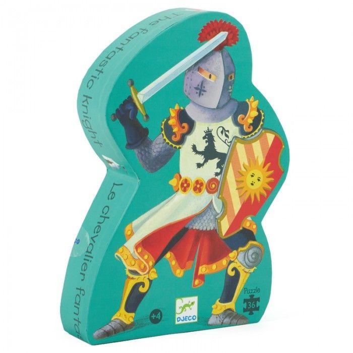 A fantasztikus lovag- formadobozos puzzle 36 db (Djeco) | Pandatanoda.hu Játék webáruház