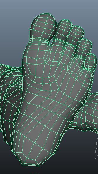modelling, texturing, rendering, animation tutorial: topology of leg human 3d