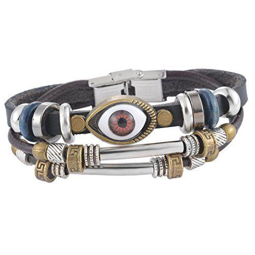 MJARTORIA Evil Eye Charm Vintage PU Leather Multilayer Handmade Clasp Wrist Band Wrap Cuff Bracelet Black MJartoria http://www.amazon.com/dp/B01AJV9AH8/ref=cm_sw_r_pi_dp_BoJLwb1EWMG0W