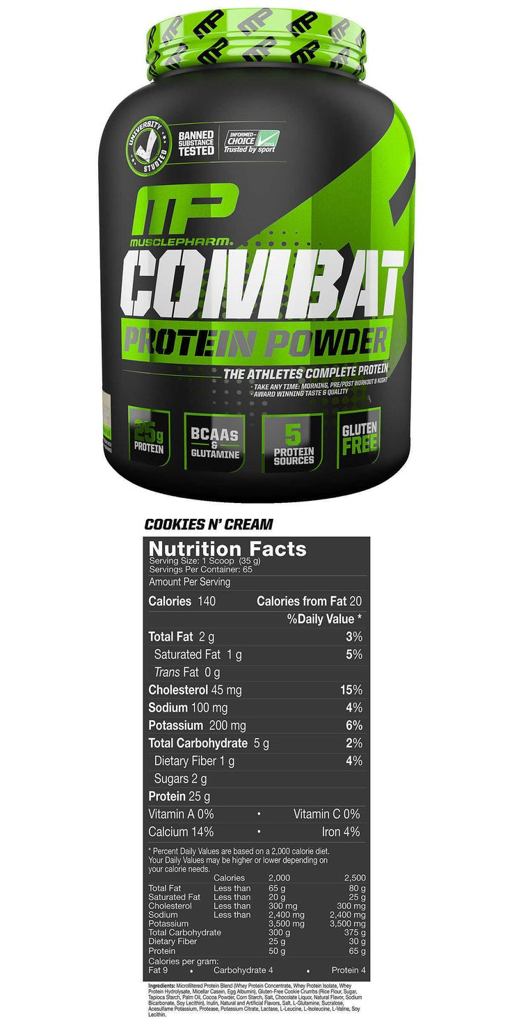 Other Sports Supplements: Muscle Pharm Combat Protein Powder 5Lbs. Cookies And Cream -> BUY IT NOW ONLY: $44.99 on eBay!