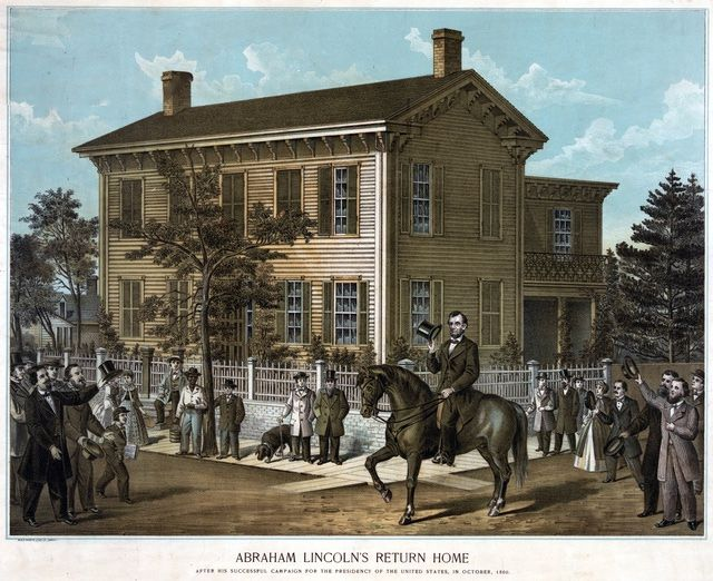 Images of Abraham Lincoln and the 1860 Campaign for President: Lincoln Depicted Returning Home After the 1860 Campaign