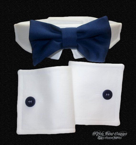 Amazon.com : Rubie's Bowtie and Cuff Set Pet Accessories ...