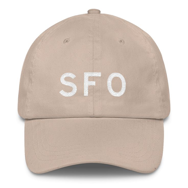 SFO San Francisco Airport Code Classic Dad Cap