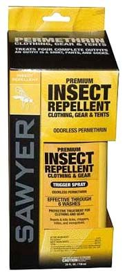 Sawyer permethrin spray insect repellent