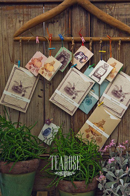 Szentgyörgyi Tünde papírmanufaktúra ballagási kollekciója - papír ajándékkísérő kártyák, pénzátadó borítékok | Tünde Szentgyörgyi paper manufactory Valentin's Day limited collection - paper accompanying gift cards, envelopes