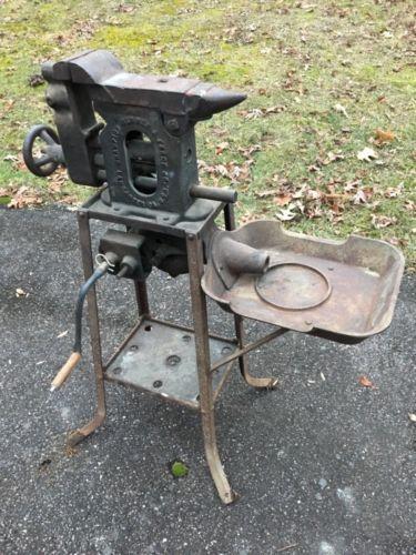 Antique-Champion-Forge-Blower-Anvil-Vise-Combo