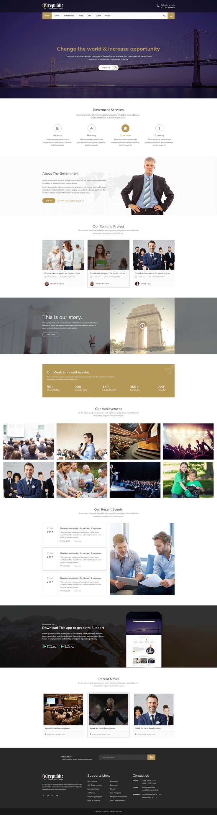 Republic - Responsive Government HTML Template ------ #city,# city #government, #corporate, #event #management, #government, #government #agency, #layer #slider, #Local #Government, #mayor, #ngo, #political, #politician, #politics, #projects, #town