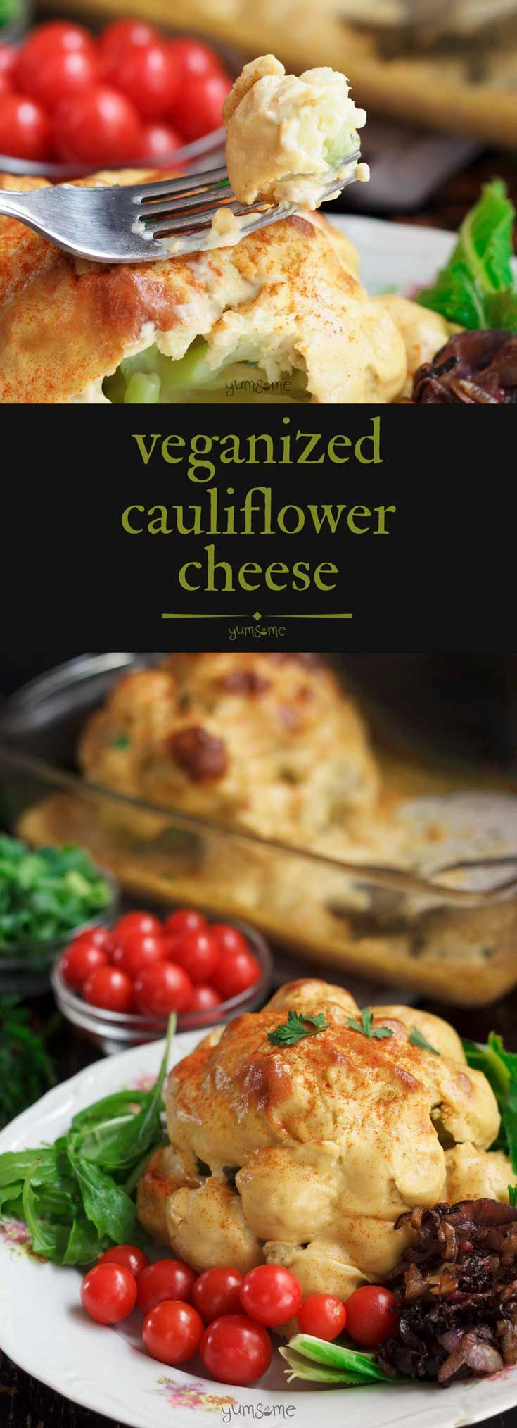 My #vegan cauliflower #cheese is a traditional Bri…