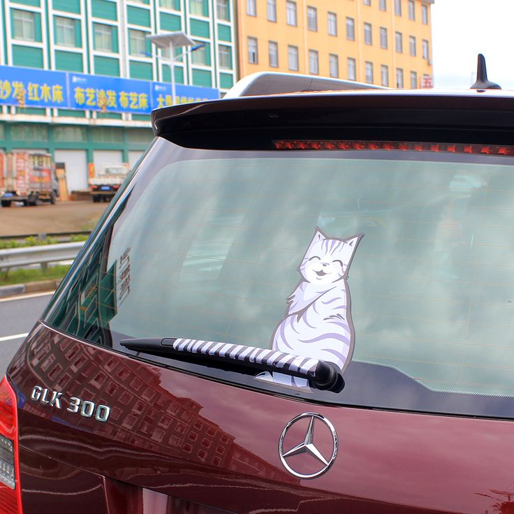 Fashion 3 styles Hot Sales 2016 Cartoon Funny happy Cat Moving Tail decal sticker Reflective Car Window Wiper Decals car-styling
