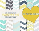 Digital Paper Pack : Favorite Pair of Jeans (  Spring/Summer hand drawn chevron series  )