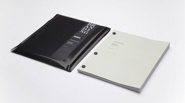 Thesis Corporate Branding  Japanese binding  Design: Mick Gapp