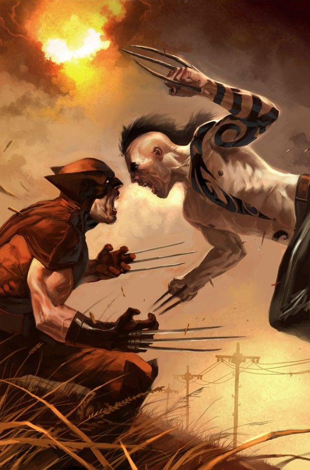 Wolverine vs Daken by Marko Djurdjevic // I reeeeally wish Daken could be in one of the movies. Pretty please? :p