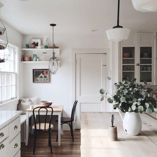cozy nook in a stunning kitchen