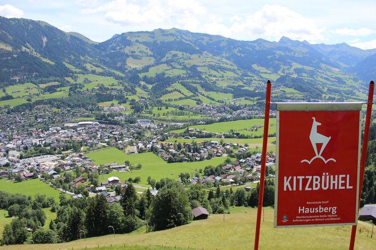 Blick von der Hausbergkante über Kitzbühel