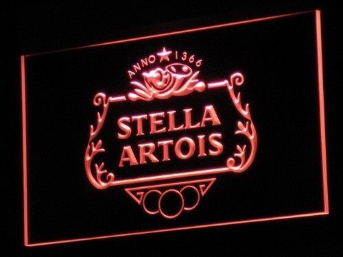 Stella Beer Led Light Sign Bar Alcohol Neon Wall Hanging Decor Mens Gift On/Off