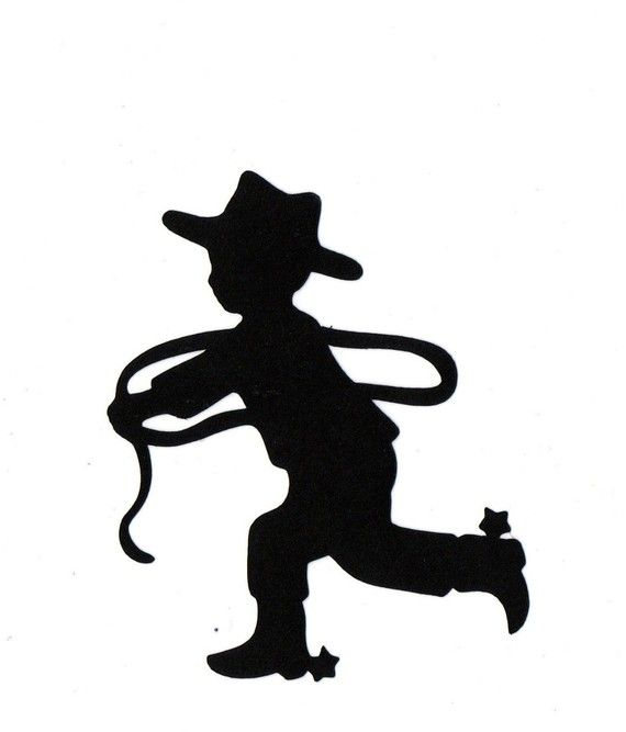 5b522482cdf Little Cowboy Child Silhouette die cut for scrap booking or card making