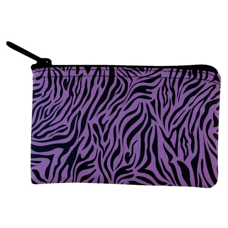 Zebra Print Purple Coin Purse