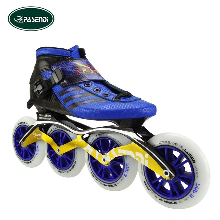 256.00$  Watch now - http://alio3z.worldwells.pw/go.php?t=32759996687 - PASENDI Professional Adults Inline Speed Skate Boots Kids Patins Roller Skate Carbon Fiber Blue Shoes
