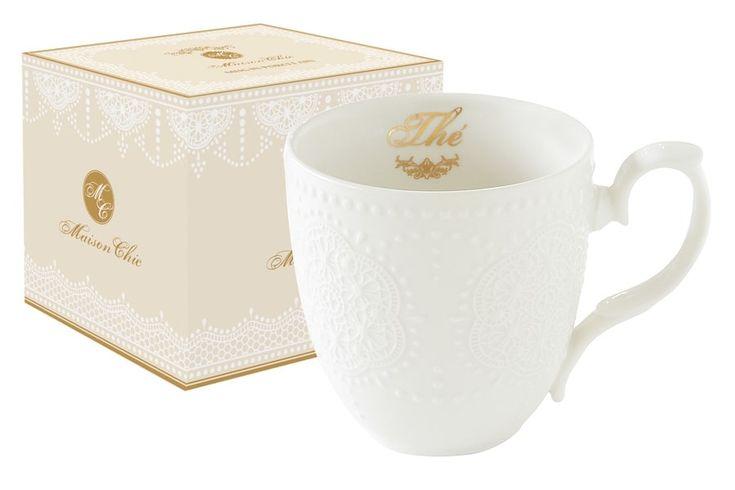 Кружка из фарфора «Белое кружево»      Бренд: Easy Life (Nuova R2S) (Италия);   Страна производства: Китай;   Материал: фарфор;   Объем: 0,32 л;          #tea #porcelain #фарфор #посуда #чай