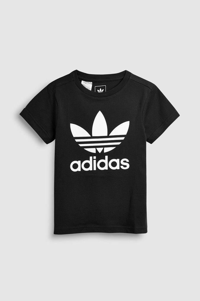 adidas Originals Trefoil T Shirt in black