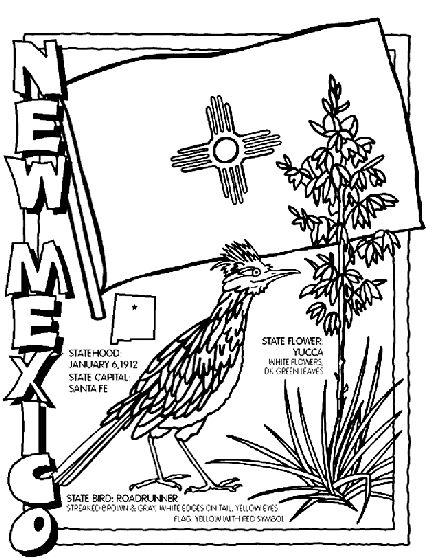 new mexico state symbol coloring page by crayola print or color online newmexico