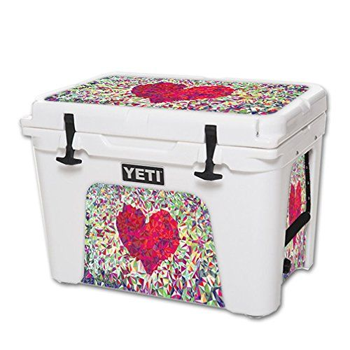 MightySkins Protective Vinyl Skin Decal for YETI Tundra 50 qt Cooler wrap cover sticker skins Stained Heart * For more information, visit image link.(This is an Amazon affiliate link and I receive a commission for the sales)