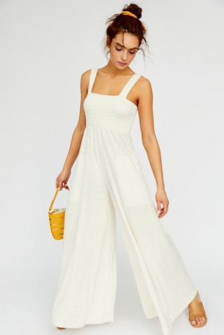 b4d349b92a Homecoming Jumper - White Sleeveless Jumpsuit - White Jumpsuits - Casual  White Jumpsuits - Beachwear - Summer Jumpsuits