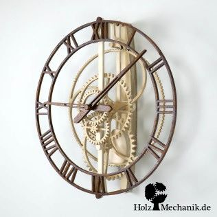 """Solenoid coil driven wooden clock """"Magica"""" from Christopher Blasius"""