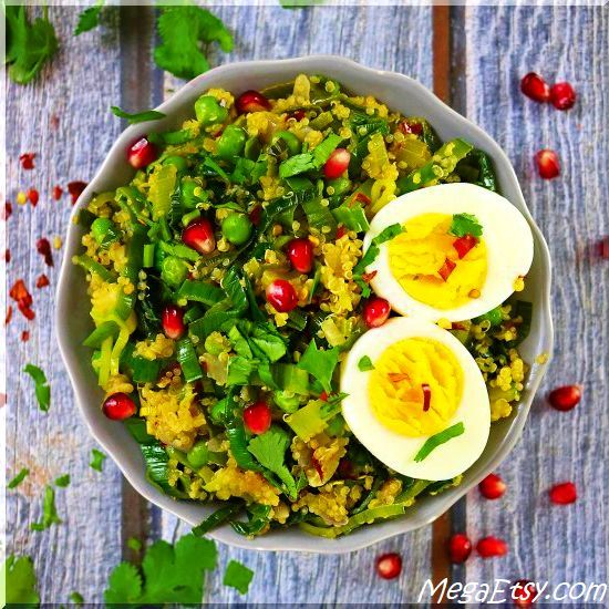 One thing I love about this Pineapple Quinoa And Leek Sauteed Salad is that it is just as delicious served cold as it is served hot!