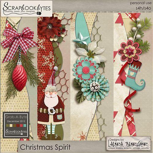 Christmas Spirit Borders :: Embellishments :: SCRAPBOOK-BYTES