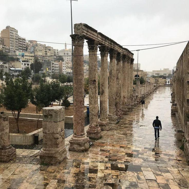 Walking thru a well preserved #Roman amphitheater.  #love #historical @visitjordan #photooftheday #jordan #myjordanjourney