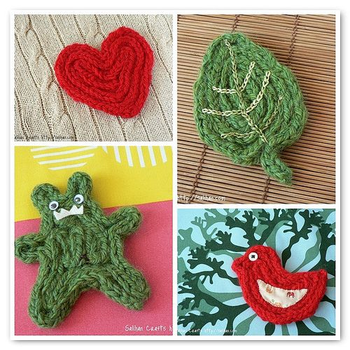 Knitted I-cord Coasters