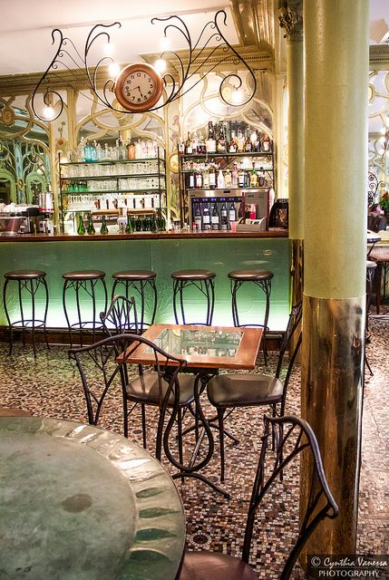 Art Nouveau Restaurant in Paris.  Bouillon Racine | Flickr - Photo Sharing!