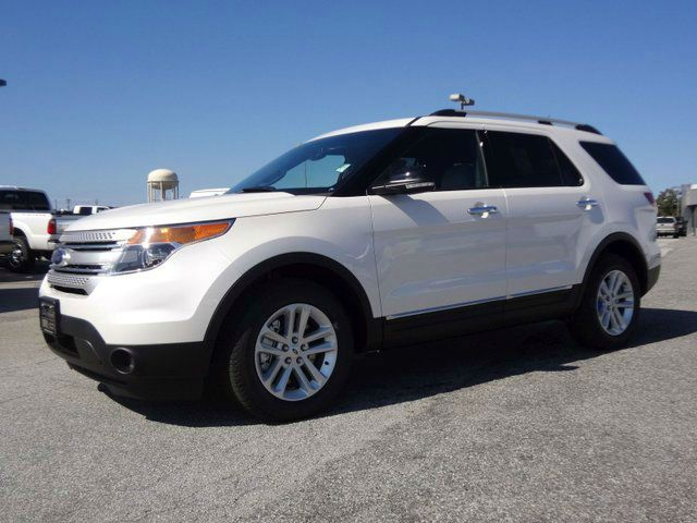 2014 Ford Explorer XLT white