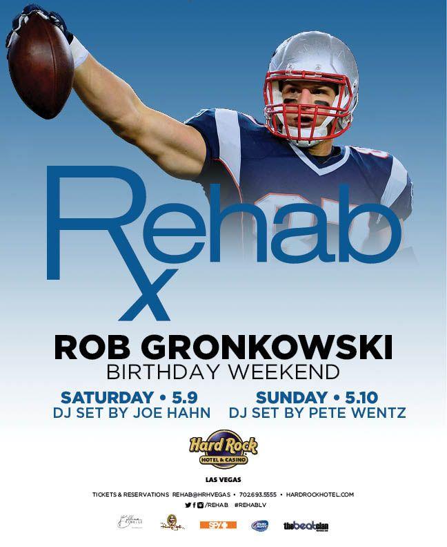 Rob Gronkowski Birthday Weekend – Rehab Las Vegas #Gronk #GronkNation