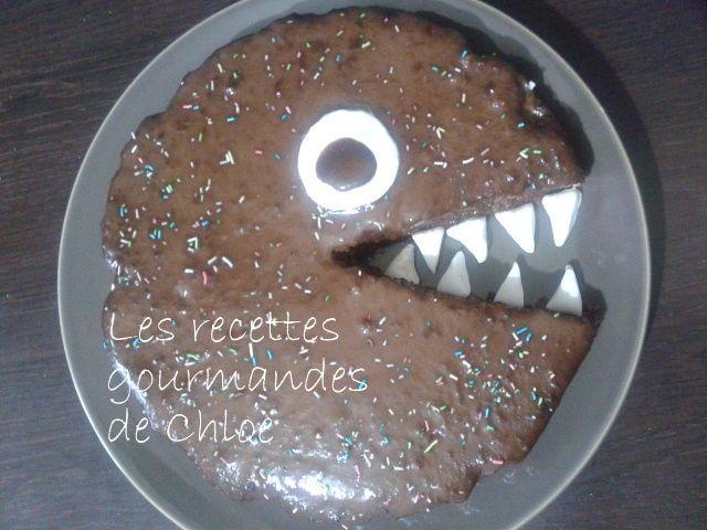 Gâteau monstre d'anniversaire ... D'autres recettes ici : http://gourmandise09.overblog.com