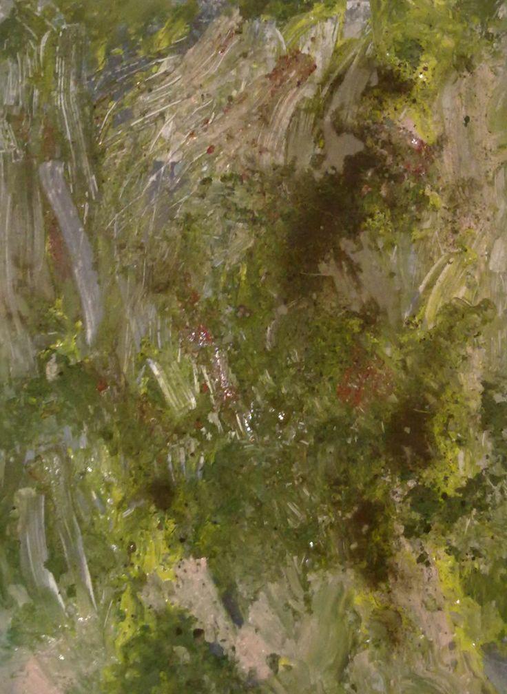 "Daniel Thalheim, ""Geological Landscape I"", Acryl & Dust on Hardboard, 2013/11/23 (Privatbesitz)"