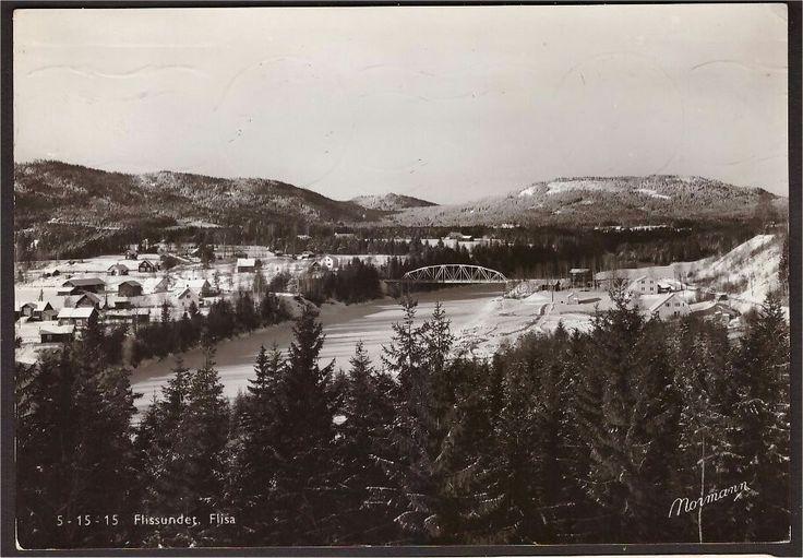 Hedmark fylke Åsnes kommune Flissundet. Flisa. Utg Normann Stemplet Flisa 1955.