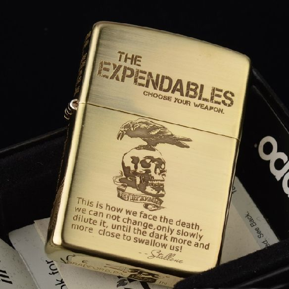 Etching Brass The Expendables Zippo Lighter Limited Edition