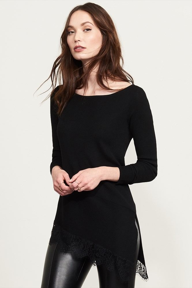 Long Sleeve Tunic With Lace